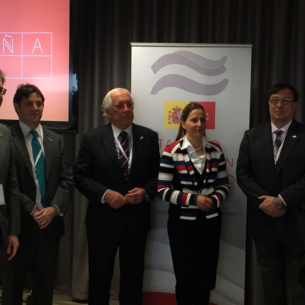 URSULA TIPP BEGRUESST DEN HIGH COMMISSIONER FOR MARCA ESPAÑA CARLOS ESPINOSA LOS MONTEROS